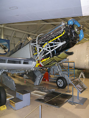 Rolls-Royce Griffon - A Griffon installed on WH632, an airworthy Fairey Firefly at the Canadian Warplane Heritage Museum (2014)