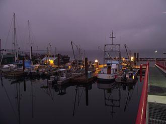 Fanny Bay - Oyster boats at Fanny Bay BC
