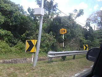 Malaysian Federal Roads System - A Federal Route code sign