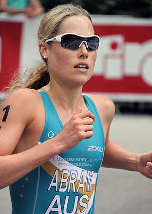 Felicity Abram - Felicity Abram placing 15th at the triathlon in Kitzbühel, 2010.