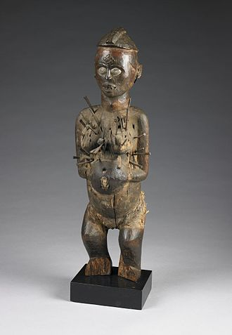 Nkondi - Female Nkisi Nkonde figure held at the Birmingham Museum of Art.