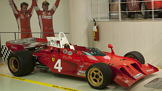 Ferrari 312B - The 'snow plow' Ferrari 312 B3 at the Ferrari Museum