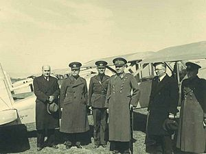 Fevzi Çakmak - Fevzi Çakmak posing in front of an aircraft