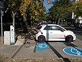 Fiat 500e, Bajcsy-Zsilinszky street charging station, 2018 Karcag.jpg