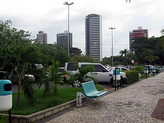 Teresina - Residential highrises seen from Teresina Shopping.