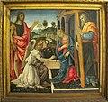 Filippino lippi, annunciazione coi ss g. battista e andrea, 1483, Q42, 01.JPG