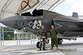 First F-35B Lightning II arrives at MCAS Beaufort 140717-M-UU619-844.jpg