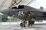 First F-35B Lightning II arrives at MCAS Beaufort 140717-M-UU619-844.jpg