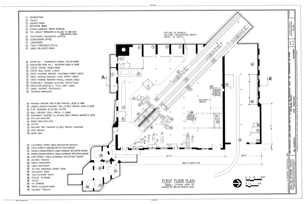 File first floor plan san francisco cable railway cable for Car floor plan