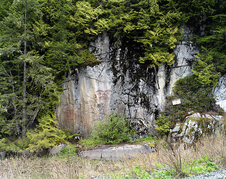 File first nations rock painting near for Meaning of terrace in english