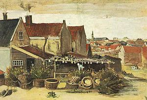 Dried fish - Fish barn with fish drying in the sun – Van Gogh 1882