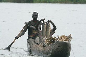 Mongalla, South Sudan - Fishing in the Sudd wetland