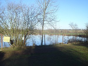English: Fishing pond near Bransford View nort...