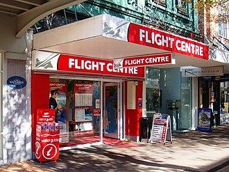 Flight Centre - Flight Centre store in Christchurch, New Zealand.