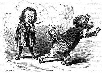 Ferdinand Flocon - Flocon frightening Armand Marrast in 1848, by Cham