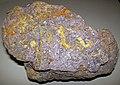 Fluoritized fossiliferous limestone (Mississippian; Hastie Quarry, near Cave-in-Rock, Illinois, USA) 4 (26228591221).jpg