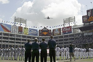 2003 Texas Rangers season - The Rangers home opener on April 4