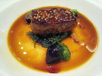 "Foie gras ""en cocotte"" with mustard ..."