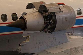 Podded engine - The VFW-Fokker 614's overwing podded Rolls-Royce/SNECMA M45H