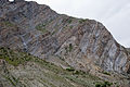 Folded Himalayan Rock Layers near Gushal in India.jpg