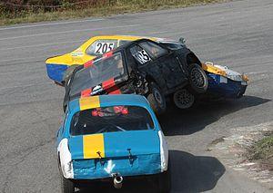 Folkrace - Folkrace crash on Högstabanan in Haninge, Sweden