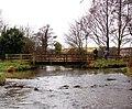 Footbridge by ford, Letheringsett - geograph.org.uk - 1258691.jpg