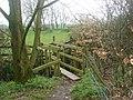 Footbridge over Rakes Brook - geograph.org.uk - 158091.jpg