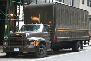 1995 Ford F series heavy duty truck used by UPS