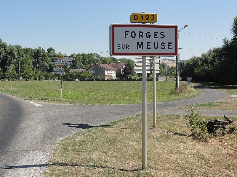 Forges-sur-Meuse (Meuse) city limit sign