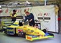 Forti FG01-95 - 1995 British GP (garage).jpg