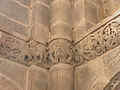 Fr Moselle Hesse Abbey church Romanesque relief Corner with the monstrous birds face 4.jpg