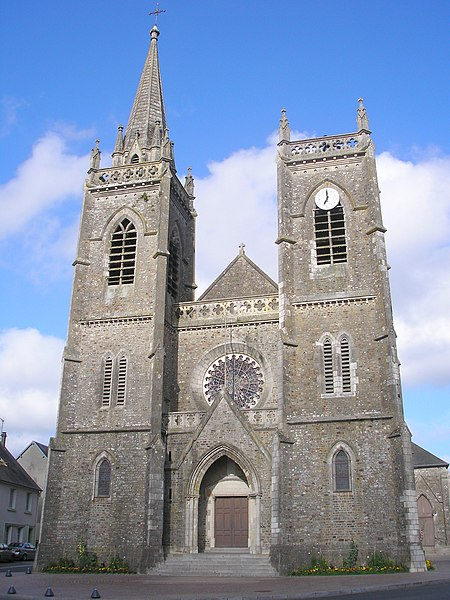 La Haye-du-Puits (Normandie, France). L'église.