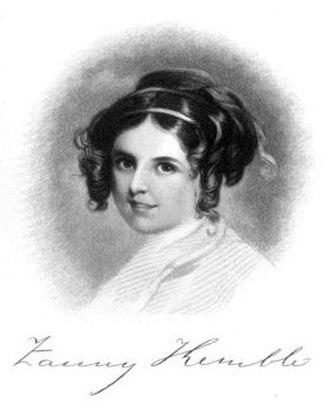 Fanny Kemble - Fanny Kemble as a young girl