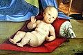 Francesco Raibolini detto il Francia, Il Bambino adorato dalla Vergine, dai santi e alla presenza di Anton Galeazzo e Alessandro Bentivoglio, (1498-99) 02.jpg