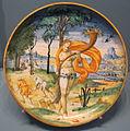 Francesco durantino, piatto con pomona, monte bagnolo, 1548.JPG