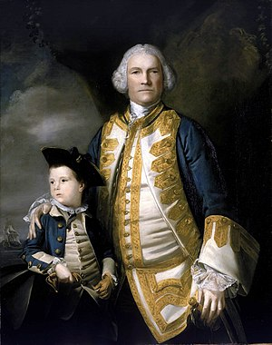 Francis Holburne - Admiral Holburne with his son, Francis Holburne (1752-1820) in a 1756 portrait by Joshua Reynolds