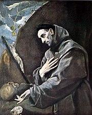São Francisco em oração (1580/85), quadro em óleo de El Greco.