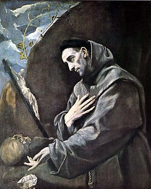 Catholic religious order - Saint Francis of Assisi, founder of the mendicant Order of Friars Minor, as painted by El Greco.