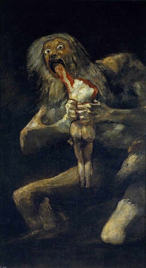 Francisco de Goya, Saturno devorando a su hijo (1819-1823)