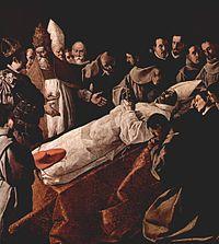 Exposición del cuerpo de San Buenaventura, 1629 (250 x 225 cm.), Museo del Louvre, París