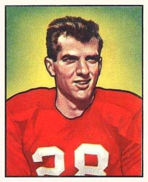 Frank Tripucka - Tripucka on a 1950 Bowman football card