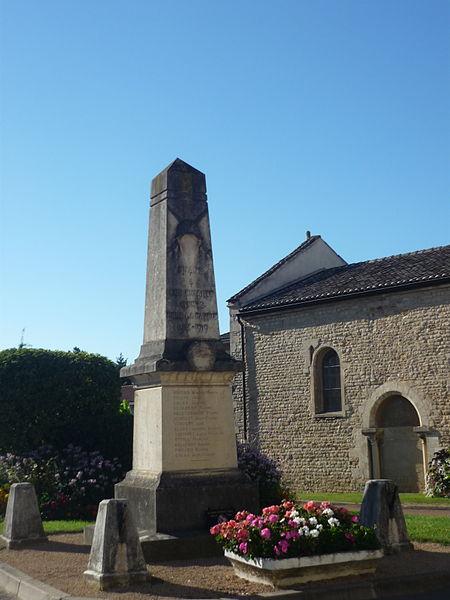 Monument aux morts de la commune de Frans, dans le département de l'Ain