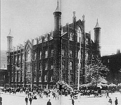 The Free Academy at Lexington Avenue and 23rd Street in New York City in the 1800s.