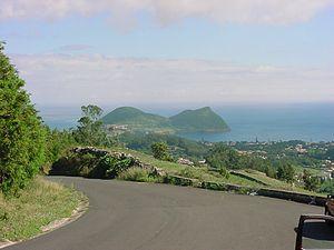 Terra Chã - A vista of Monte Brasil as seen from an ancillary road in the parish of Terra Chã
