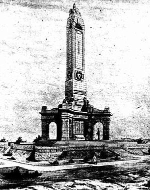 Fremantle War Memorial - A sketch of the proposed memorial published in The Sunday Times in February 1925.