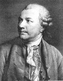 Klopstock, Stahlstich um 1760 (Quelle: Wikimedia)