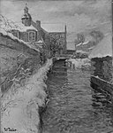Frits Thaulow - Snow-covered Buildings along a Canal - 23.498 - Museum of Fine Arts.jpg