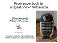 From paper book to a digital one on Wikisource - Wikimania 2014 presentation slides.pdf