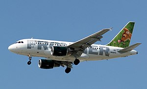 Frontier Airlines Fawn Airbus A318-111 N808FR.jpg