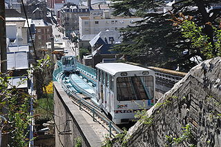 Funiculaire du Havre funicular railway line in the French port city of Le Havre